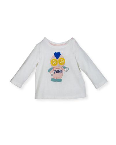 Infant Girls' Long-Sleeve Fendirumi Graphic T-Shirt, Size 12-24 Months