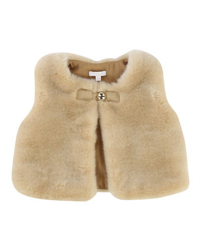 Sleeveless Faux-Fur Vest, Size 2-3