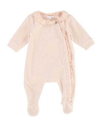 Ruffle-Trim Footie Pajamas, Size 3-9 Months