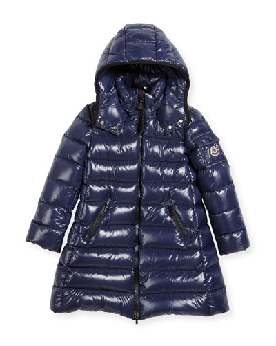 Moka Down Puffer Coat, Dark Blue, Size 8-14