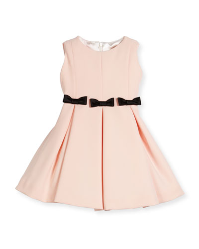 Fit-and-Flare Dress w/ Bows, Size 2-6