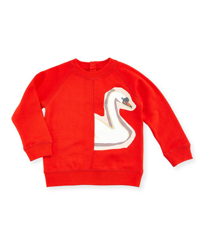 Betty Swan Graphic Sweatshirt, 12-36 Months