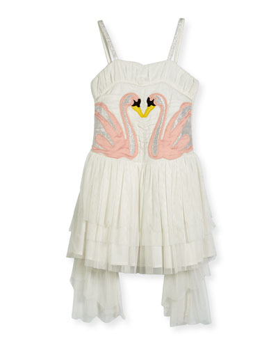 Bonny Winged Swan Tulle Dress, Size 4-14