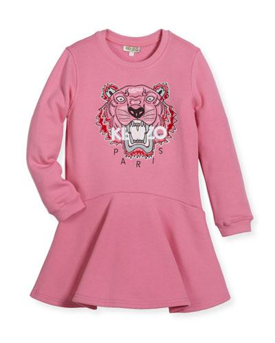 Bubble Tiger Sweater Dress, Size 2-3