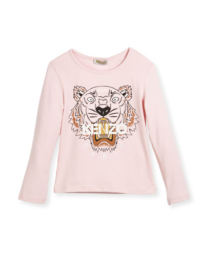 Long-Sleeve Tiger T-Shirt, Size 8-12