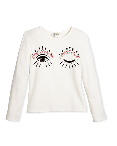 Long-Sleeve Eye Tee, Size 14-16