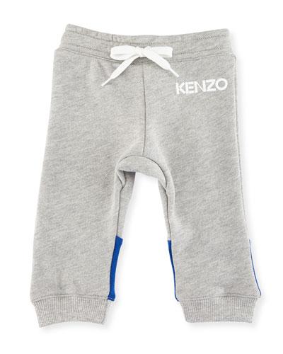 Logo Drawstring Sweatpants, Gray, Size 12-18M