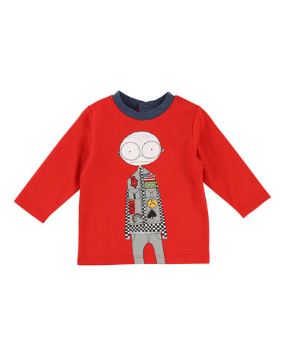 Mister Marc Essentials Long-Sleeve Graphic Tee, Size 2-3