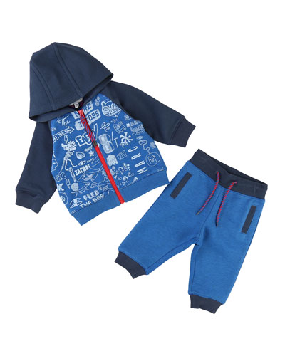 Printed Jogging Jacket w/ Sweatpants, Size 12-18 Months
