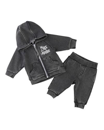 Rocks Jogging Jacket w/ Trousers, Size 2-3