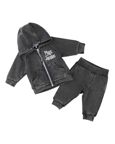 Rocks Jogging Jacket w/ Trousers, Size 12-18 Months
