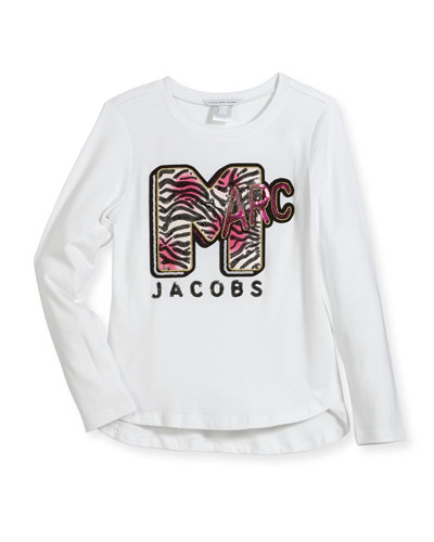 MTV Logo Long-Sleeve T-Shirt, Size 6-10