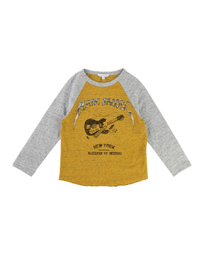 Long-Sleeve Music Illustration Tee, Size 6-10