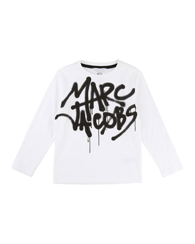 Long-Sleeve Marc Jacobs Graffiti Tee, Size 4-5
