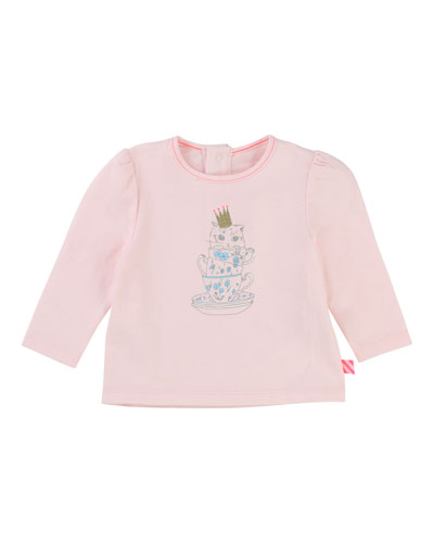 Teacup Kitten Jersey T-Shirt, Size 2-3