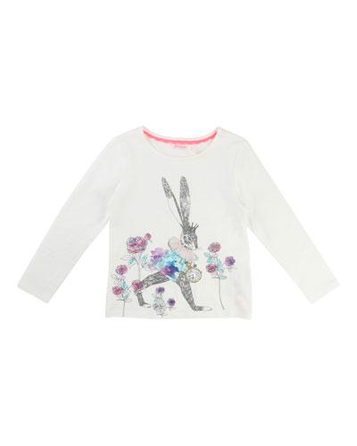 Rabbit Graphic Jersey T-Shirt, Size 4-8