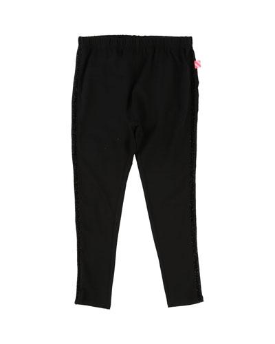 Leggings w/ Glittered Side Trim, Size 4-8
