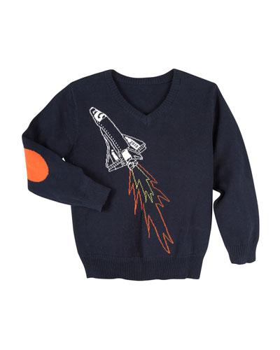 Spaceship Sweater, Size 3-24 Months