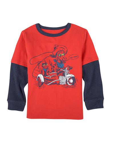 Moto Cowboy Graphic T-Shirt, Size 3-24 Months