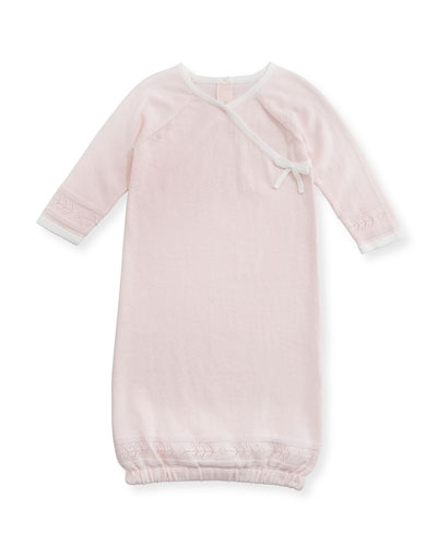 Take Me Home Cotton Pointelle-Knit Sleep Gown, Size 0-3 Months