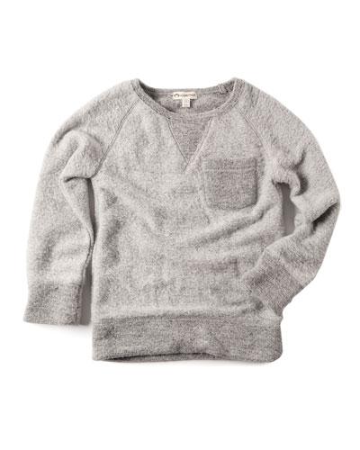 B Side Fuzzy Sweatshirt, Size 2-10