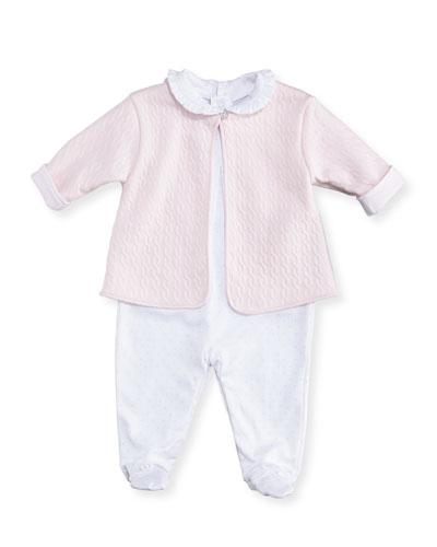 Cable Couture Footie Playsuit & Jacket Set, Size Newborn-9M