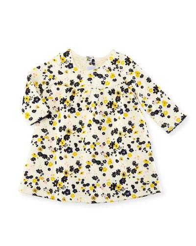 Long-Sleeve Floral Print Dress, Size 3-36 Months