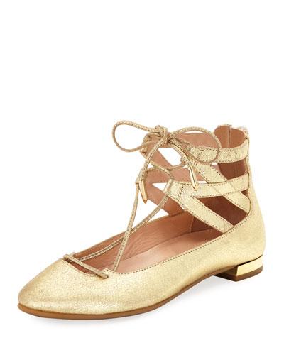 Belgravia Mini Leather Ballerina Flat, Toddler