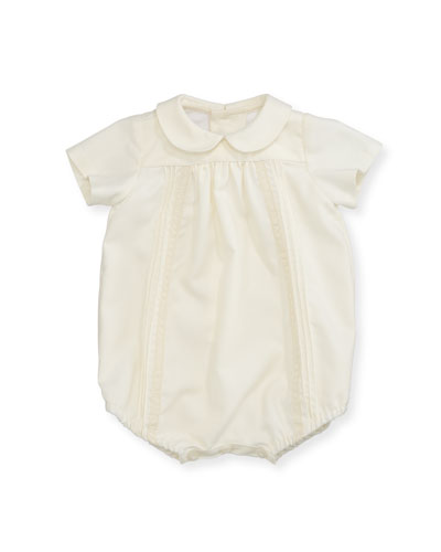 Pleated & Pintucked Bubble Playsuit, Size Newborn-9 Months