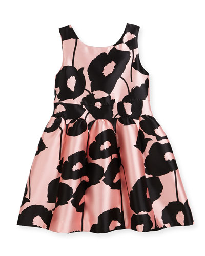 Poppy Floral-Print Party Dress, Size 4-7