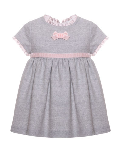 Ruffle Bow Dress, Size 3-24 Months