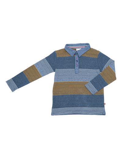 Caddie Striped Polo, Size 2-8