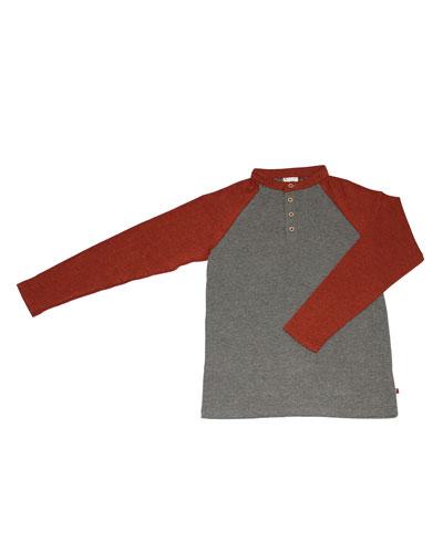 Heathered Henley T-Shirt, Size 2-8