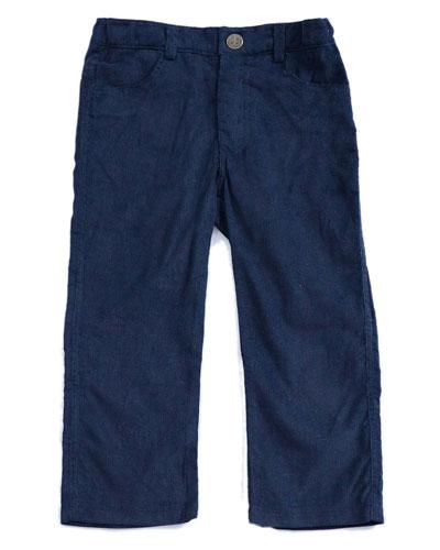 Corduroy Straight-Leg Trousers, Size 2-8