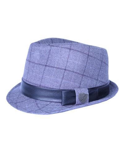 Boys' Club Plaid Fedora Hat