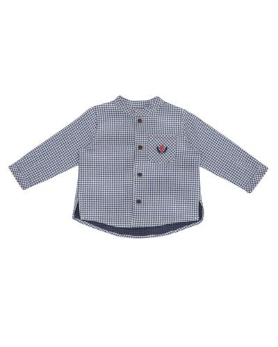 Check Shirt w/ Contrast Stitching, Size 12M-3T