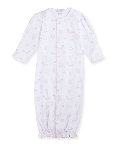 Rockabye Buggy Convertible Pima Sleep Gown, Size Newborn-Small