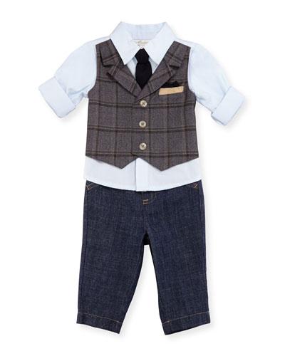 Mock-Vest Shirt w/ Pants, Size 6-24 Months