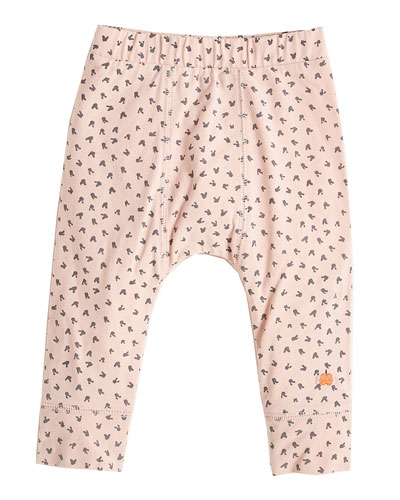 Bunny Print Leggings, Pink, Size 3-24 Months
