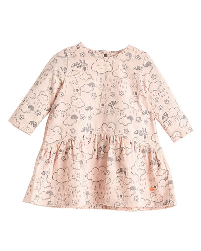 A-Line Printed Dress, Pink, Size 6-24 Months