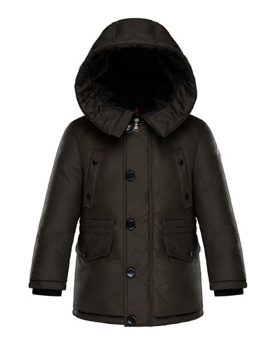 Dirk Long-Parka Coat, Size 8-14
