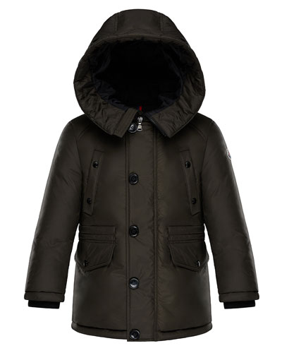 Dirk Long-Parka Coat, Size 4-6