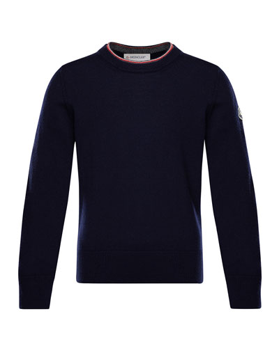 Maglia Virgin Wool Long-Sleeve Sweater, Size 4-6