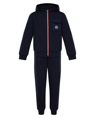 Zip-Up Hooded Jacket w/ Sweatpants, Size 4-6