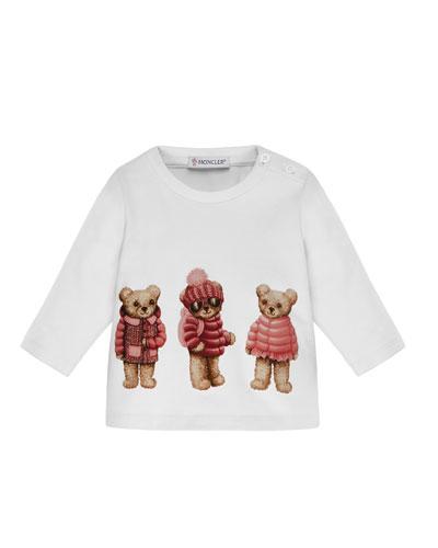Boys' Long-Sleeve Bear T-Shirt, Size 6M-3T