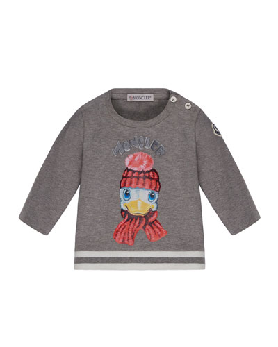 Long-Sleeve Duck T-Shirt, Size 6M-3T