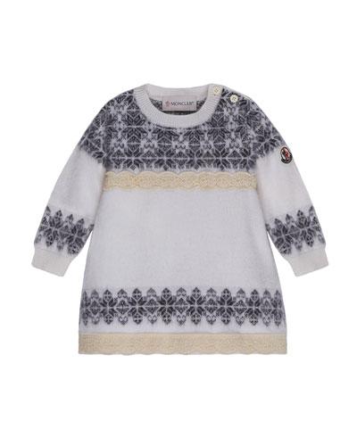 Abito Tricot Wool-Blend Dress, Size 12M-3T