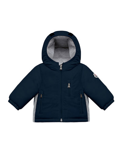 Constant Hooded Coat w/ Contrast Sides, Size 12M-3T