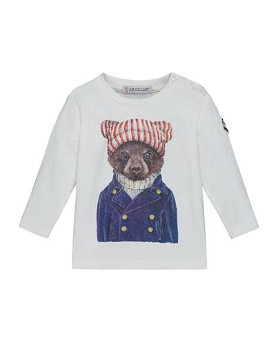 Maglia Long-Sleeve Bear T-Shirt, Size 12M-3T
