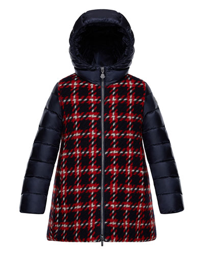 Curiosite Mixed Media Coat, Size 4-6